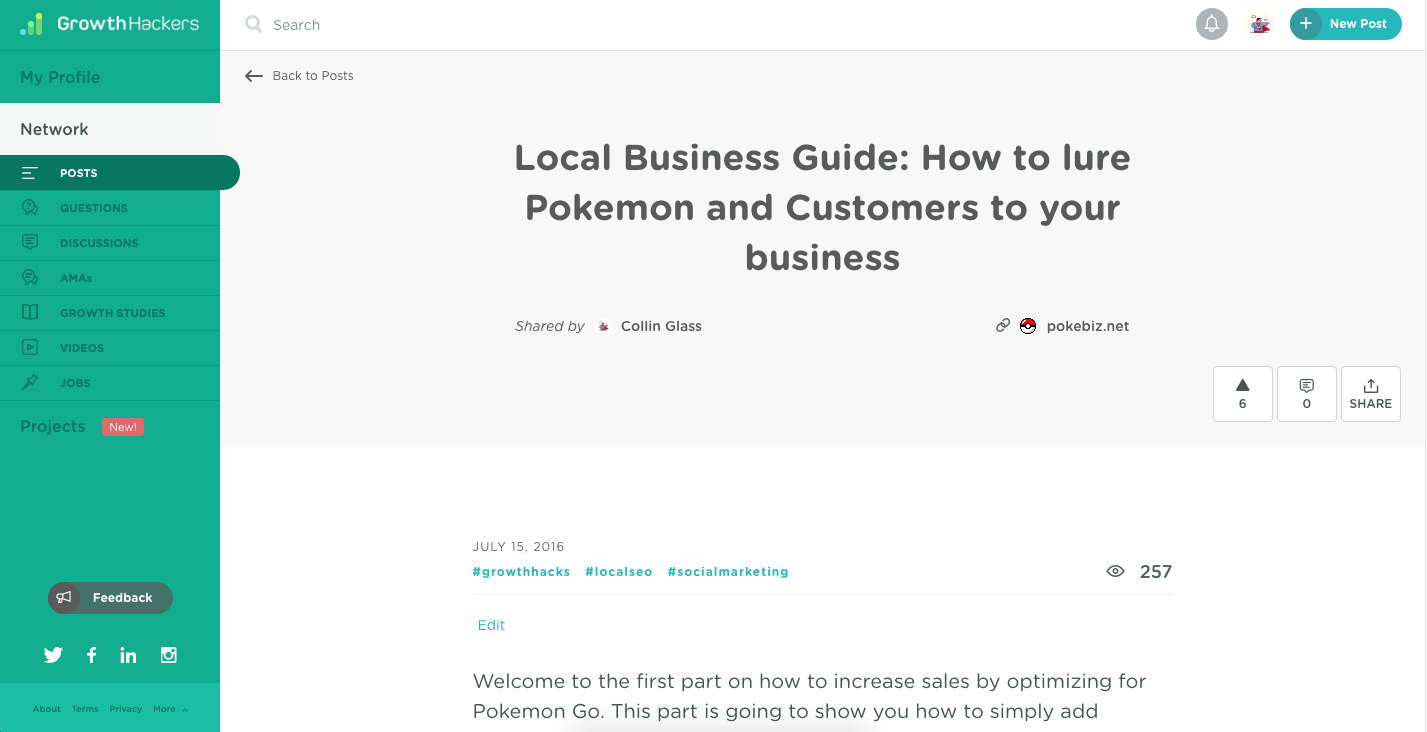 Pokebiz's first article on GH